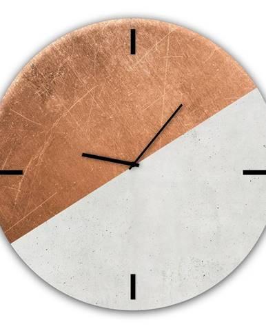 Sklenené nástenné hodiny Styler Half Coper, ø 30 cm