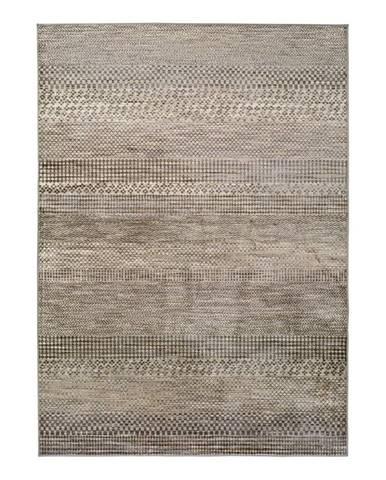 Sivý koberec z viskózy Universal Belga Beigriss, 140 x 200 cm