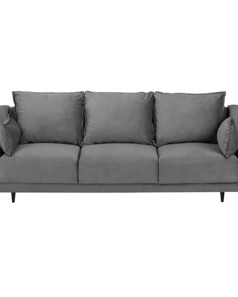 Mazzini Sofas Sivá trojmiestna rozkladacia pohovka s úložným priestorom Mazzini Sofas Freesia