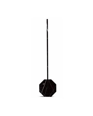 Čierna stolová lampa v mramorovom dekore Gingko Octagon
