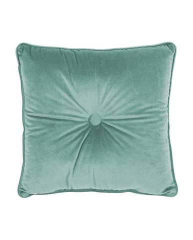 Vankúš vo svetlozelenej farbe Tiseco Home Studio Velvet Button, 45 x 45 cm