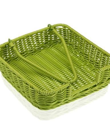 Zelený košík na papierové obrúsky Versa Wonda, 20 × 20 cm