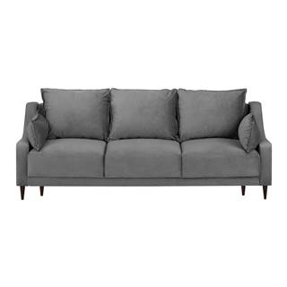 Sivá trojmiestna rozkladacia pohovka s úložným priestorom Mazzini Sofas Freesia