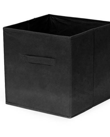 Čierny skladací úložný box Compactor Foldable Cardboard Box