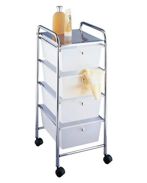 Wenko Pojazdný kúpeľňový regál so 4 zásuvkami Wenko Messina