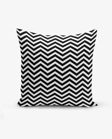 Čierno-biela obliečka na vankúš s prímesou bavlny Minimalist Cushion Covers Stardust, 45×45 cm