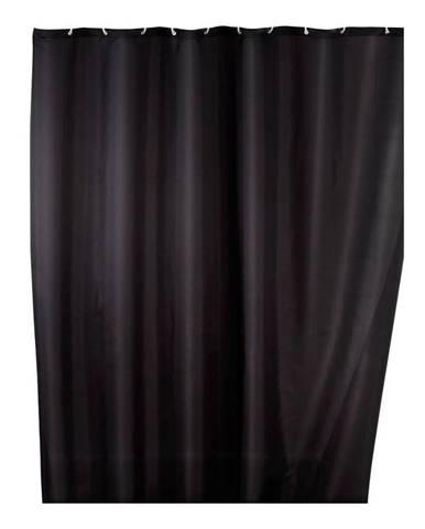 Čierny sprchový záves s protiplesňovou povrchovou úpravou Wenko, 180×200 cm