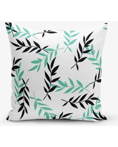 Obliečka na vankúš s prímesou bavlny Minimalist Cushion Covers Black Tea, 45×45 cm