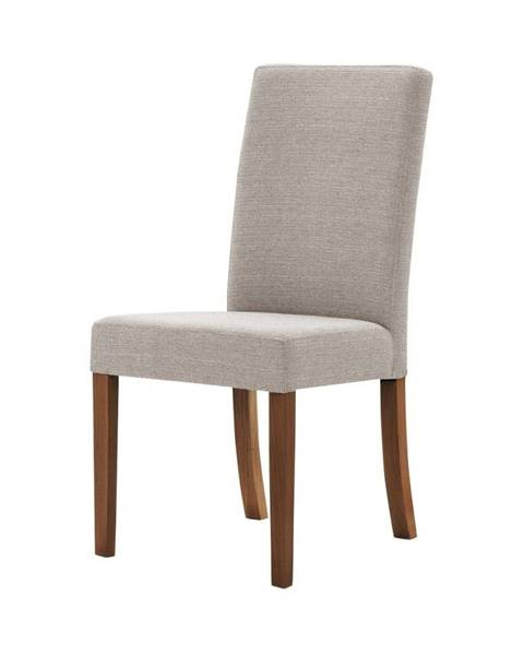 Ted Lapidus Maison Sivo-hnedá stolička s tmavohnedými nohami Ted Lapidus Maison Tonka