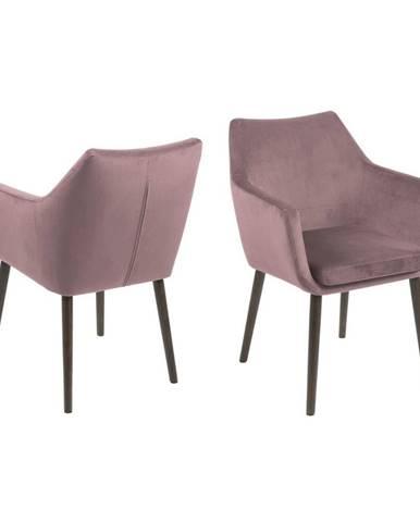 Ružová jedálenská stolička Actona Nora