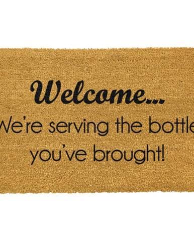 Rohožka z prírodného kokosového vlákna Artsy Doormats Bottle You&
