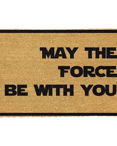 Rohožka z prírodného kokosového vlákna Artsy Doormats May The Force Be With You, 40 x 60 cm