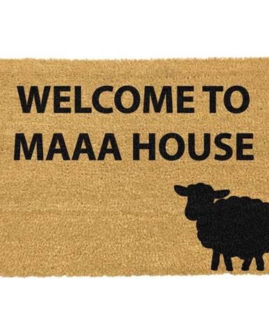 Rohožka z prírodného kokosového vlákna Artsy Doormats Welcome to Maaa House, 40 x 60 cm