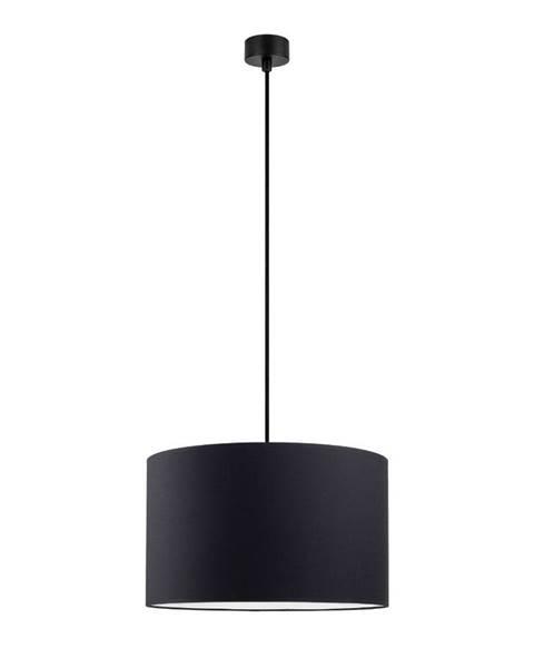 Sotto Luce Čierne závesné svietidlo Sotto Luce Mika, ∅ 36 cm