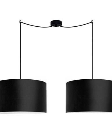 Čierne dvojramenné závesné svietidlo Sotto Luce MIKA