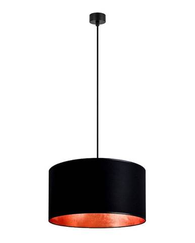Čierne závesné svietidlo s vnútrom v medenej farbe Sotto Luce Mika, ∅ 50 cm