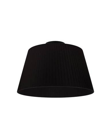 Čierne stropné svietidlo Sotto Luce KAMI CP, Ø 36 cm