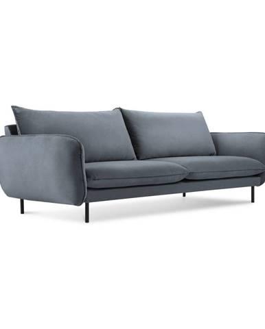 Sivá zamatová pohovka Cosmopolitan Design Vienna, 200 cm