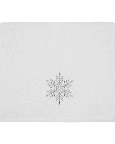 Osuška Christmas Snowflake White, 30 x 50 cm