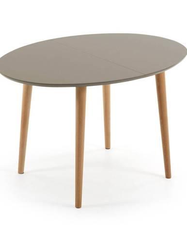 Rozkladací jedálenský stôl z bukového dreva La Forma Oakland, 120 x 90 cm