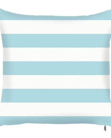 Modrá obliečka na vankúš Mike&Co.NEWYORK Stripes, 43 × 43 cm