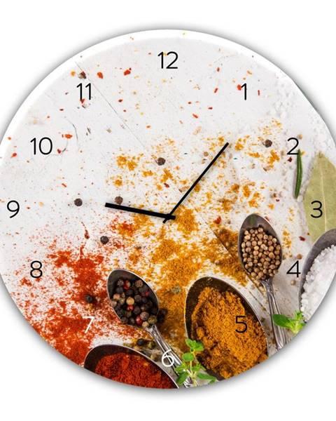 Styler Nástenné hodiny Styler Glassclock Spoon, ⌀ 30 cm