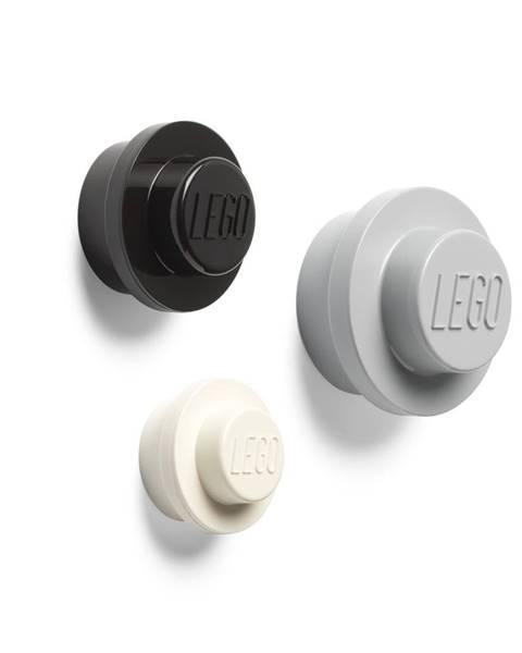 LEGO® Súprava 3 vešiakov na stenu LEGO® Black And White