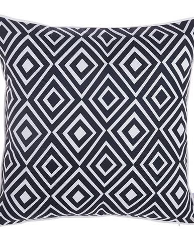 Čierno-biela obliečka na vankúš Mike&Co.NEWYORK Rhombus, 43 × 43 cm