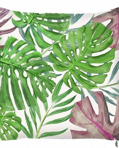 Zelená obliečka na vankúš Mike&Co.NEWYORK Monstera Heaven, 43 × 43 cm