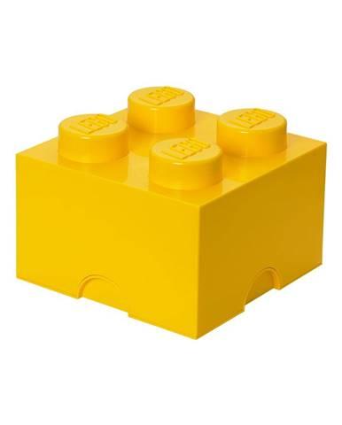 Žltý úložný box štvorec LEGO®