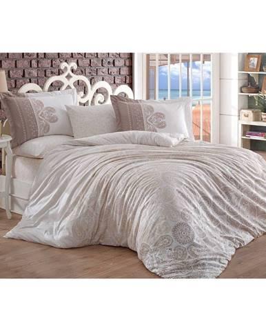 Bavlnené obliečky s plachtou na dvojlôžko Irene, 200×220 cm