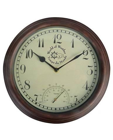 Vonkajšie nástenné hodiny s teplomerom Ego Dekor