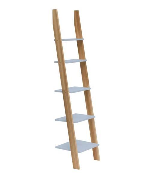 Ragaba Svetlosivá rebríková polica Ragaba ASHME, šírka45cm