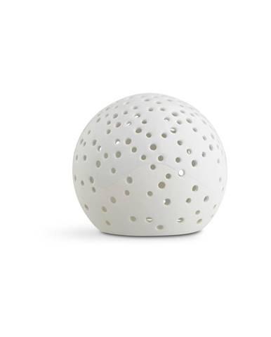 Biely vianočný svietnik z kostného porcelánu Kähler Design Nobili, ⌀ 12 cm