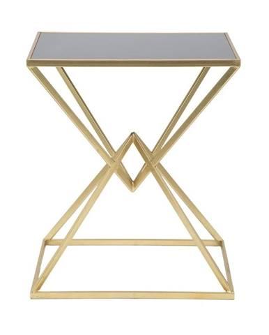 Odkládací stolík so železnou konštrukciou v zlatej farbe Mauro Ferretti Cleopatra, 46 x 57 cm