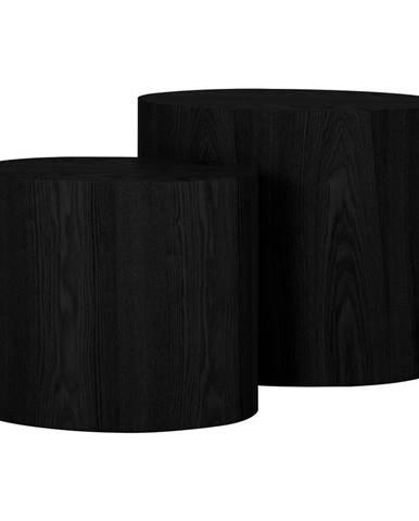Súprava 2 odkladacích čiernych stolíkov Canett Odnes