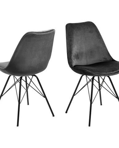 Sivá jedálenská stolička s čiernym podnožím Actona Eris
