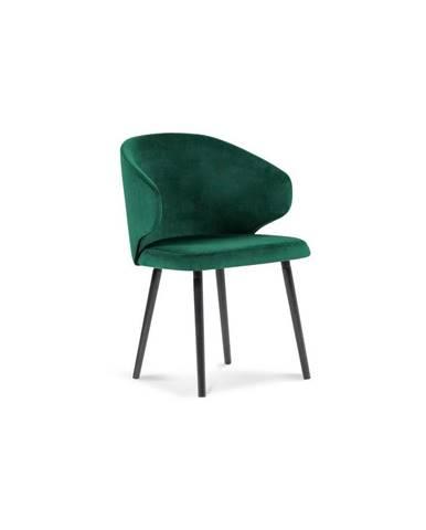 Tmavozelená jedálenská stolička so zamatovým poťahom Windsor & Co Sofas Nemesis