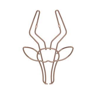Nástenný vešiak v tvare gazely Metaltex, šírka 30 cm