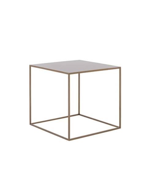 Custom Form Konferenčný kovový stolík v zlatej farbe Custom Form Tensio, 50 x 50 cm