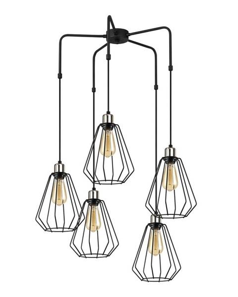 Opviq lights Čierne kovové závesné svietidlo Opviq lights Nestros