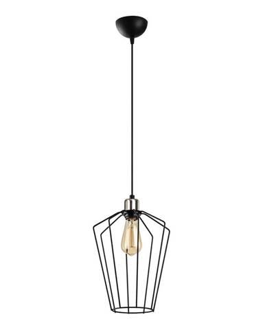 Čierne kovové závesné svietidlo Opviq lights Desponia