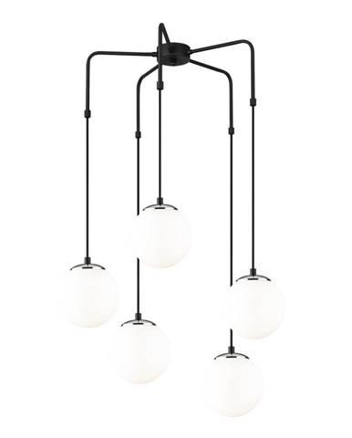 Čierne kovové závesné svietidlo Opviq lights Palma