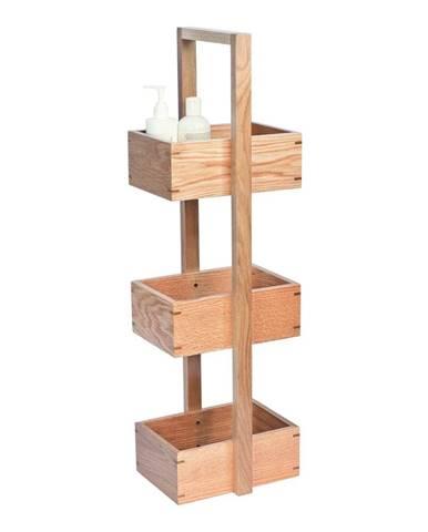 Stojan do kúpeľne z dubového dreva Wireworks Caddy Mezza, výška 84cm