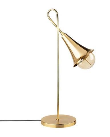 Kovová stolová lampa v zlatej farbe Opviq lights Elisa