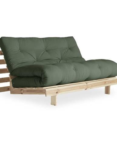 Variabilná pohovka Karup Design Roots Raw/Olive Green