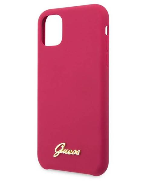 Guess Kryt na mobil Guess Silicone Vintage na iPhone 11 Pro ružový