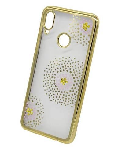 Kryt na mobil Beeyo Flower Dots na Honor Play zlatý