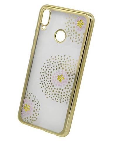 Kryt na mobil Beeyo Flower Dots na Huawei Nova 3 zlatý