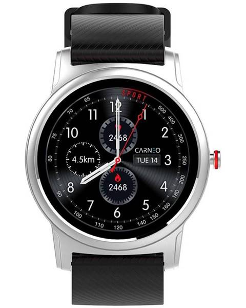 Carneo Inteligentné hodinky Carneo Prime Platinum strieborný